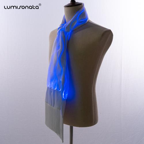 Flashing led glitter Christmas Neck Scarf