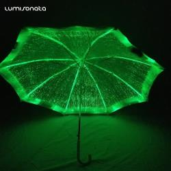 Luminous fiber optic led umbrella