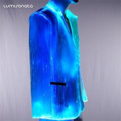 men custom led light up Jacket