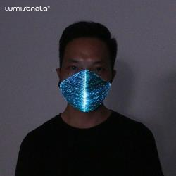 wholesale flashing black mask for DJ rave party wear