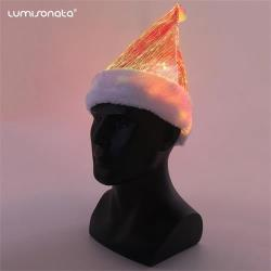 led fiber optic Christmas hat Santa hat