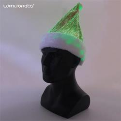 Led flashing Santa Christmas Hat with color change