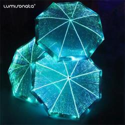 led light up umbrella in glow in the dark