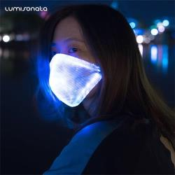 rave party led fiber optic mask