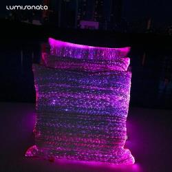 Led luminous pillow case RGB led control