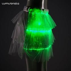 led skirt made with fiber optic