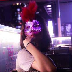 luminous led light up masquerade mask