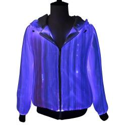 multi color lights changeable luminous hoodie