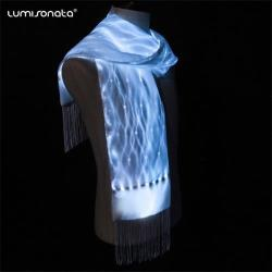 glow in the dark led scarf