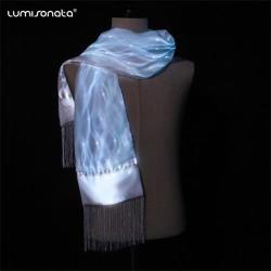 Christmas Hallowmas Festival Hot Sell LED Scarf Flashing Light Led Pashmina Scarf