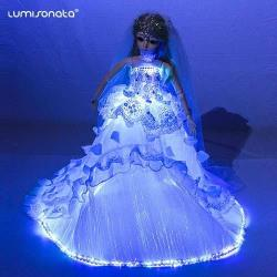 Christmas decorations led light up doll
