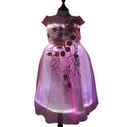 Pretty Pink princess dress with led lights