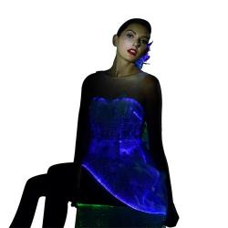 Christmas party women dress with led light