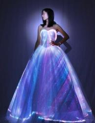 2020 Spring new style led luminous wedding dress