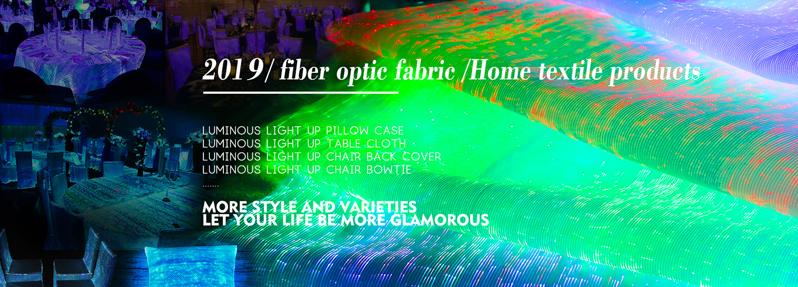 Luminous light up Intelligent Optical Fabric