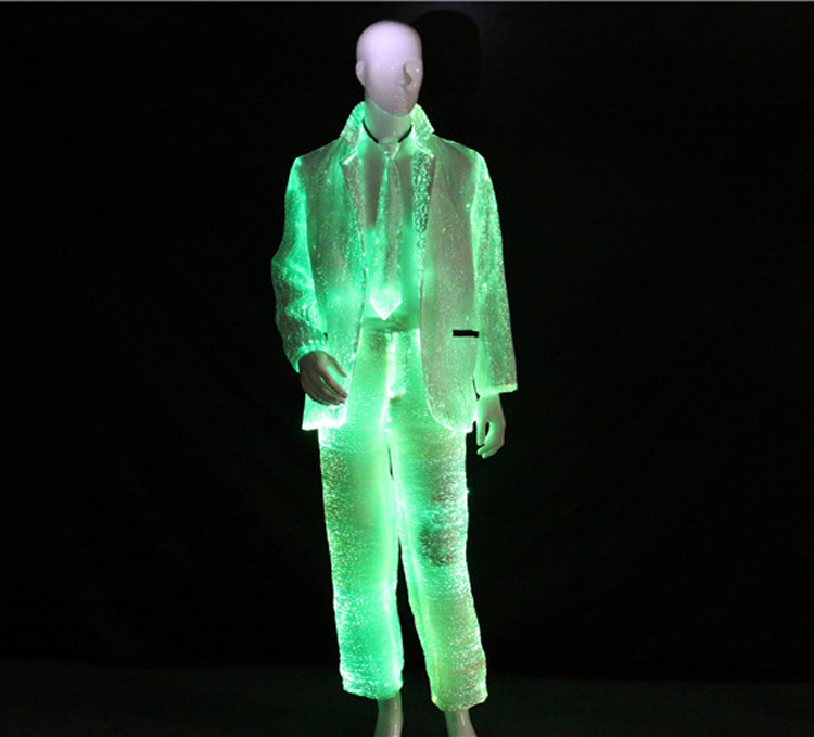 light costumes  , fiber optic suit  , luminous jacket