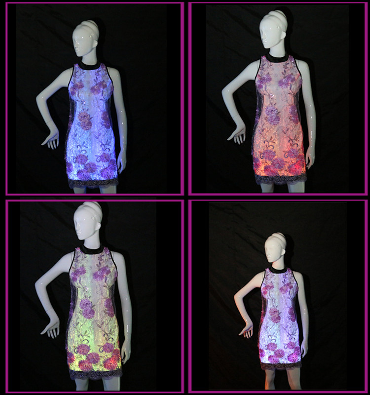 luminous dress,light up cheongsam,led flashing chirpaur,Qipao give out light