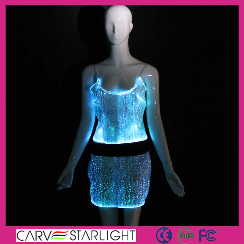 top and skirt set, top and skirt,top and skirt sets, led costume, sexy clubwear