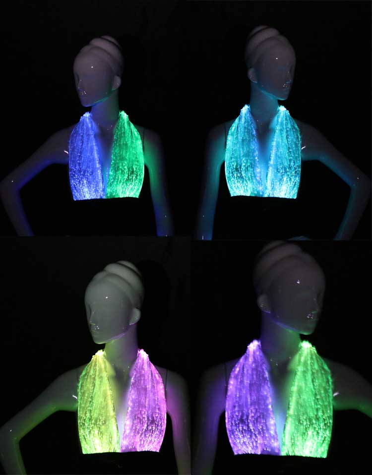 LED Clothing Luminous Sexy Dance Costumes light up Top For Club Wear