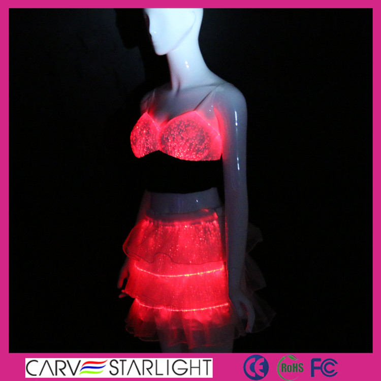 led lighted custom clothes, led light up clothes, stage performance clothes