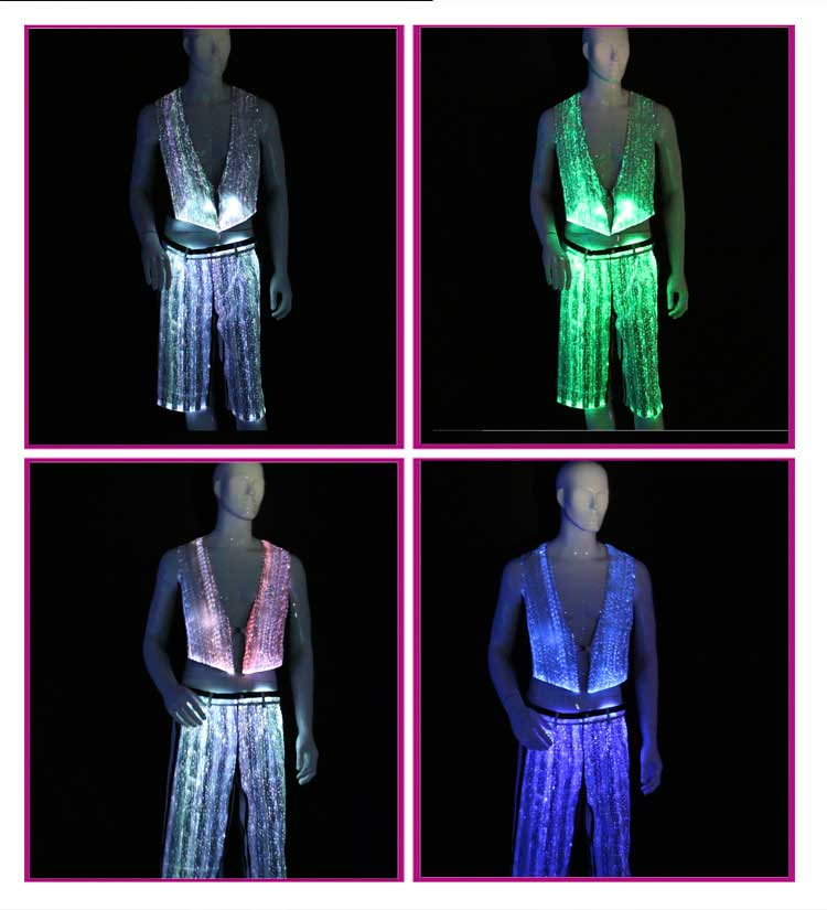 man shirt and short pants, vest and pants for men,mens clubwear, led costume