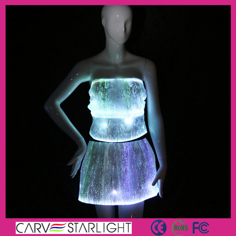 tops and skirt set, sexy tops and skirts, light up dress, sexy clubwear