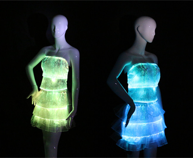 fashion top and skirt set, light up dress, skirt and top set, sexy clubwear