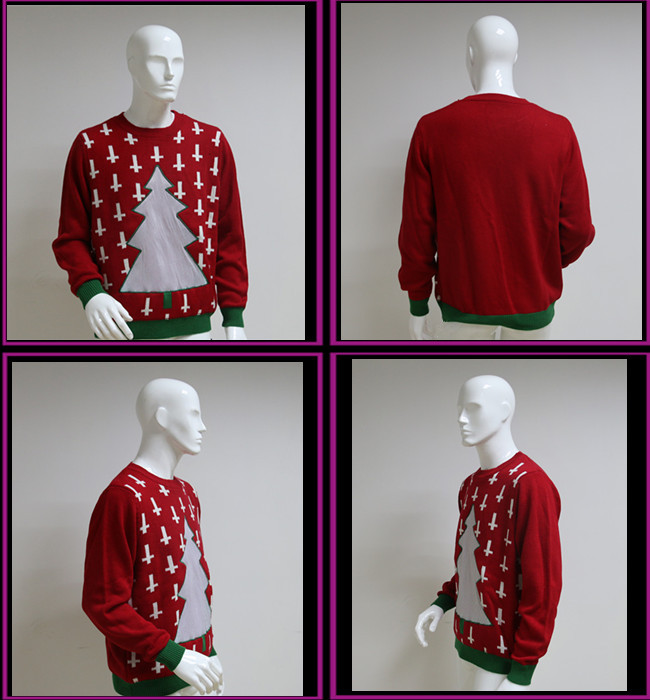 christmas sweater  , light up christmas clothes  , led deco for christmas