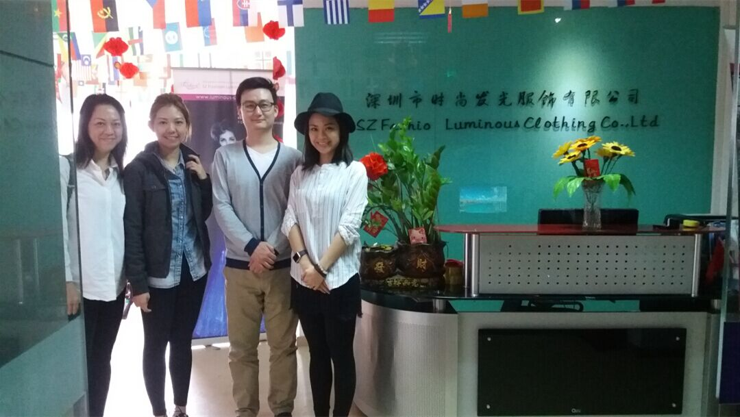 Clients from Hongkong interested in fiber optic fabric