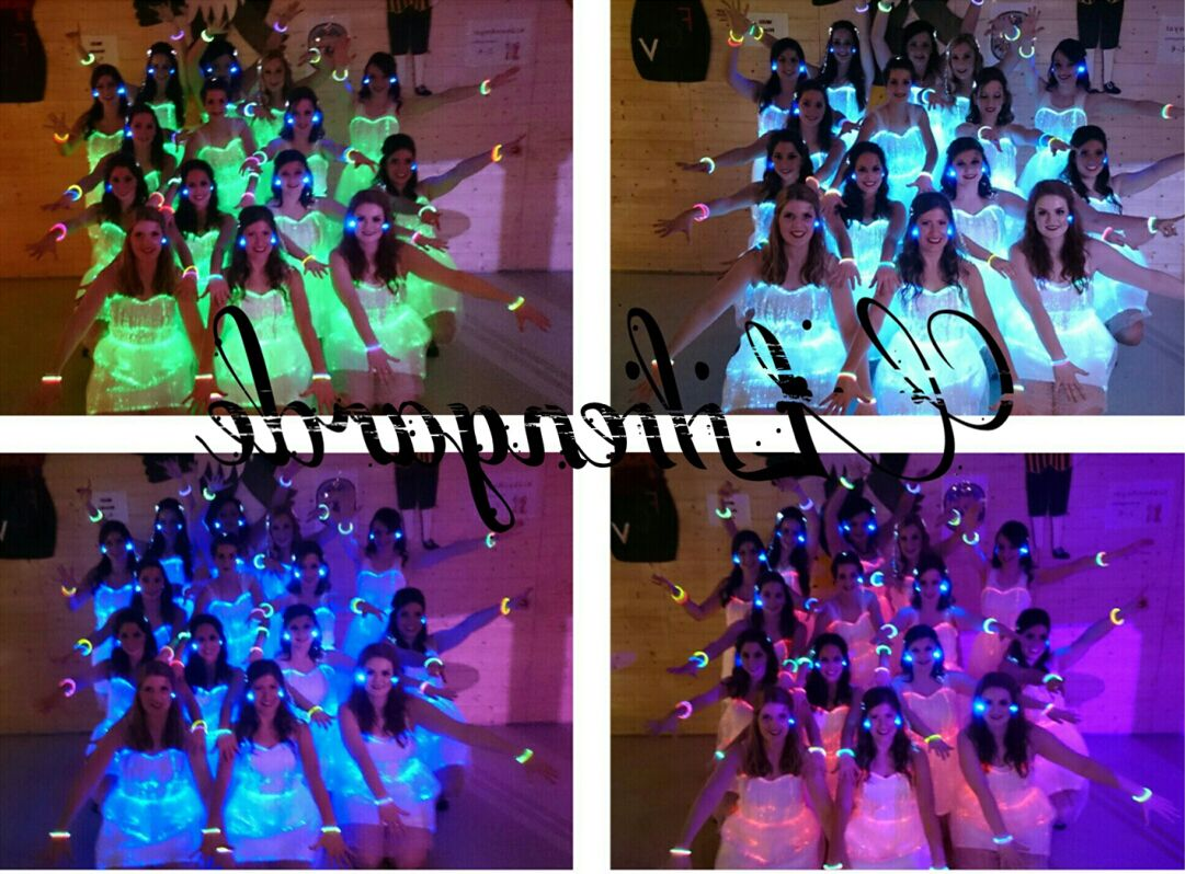 Show girls with our luminous dress