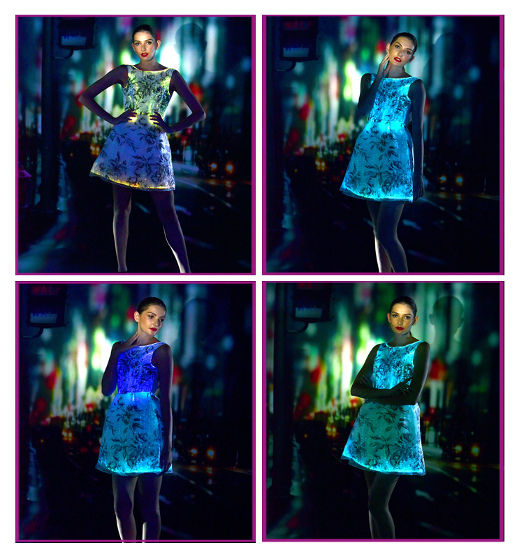 light up skirt luminous optical fiber cloth illuminating lighting LED
