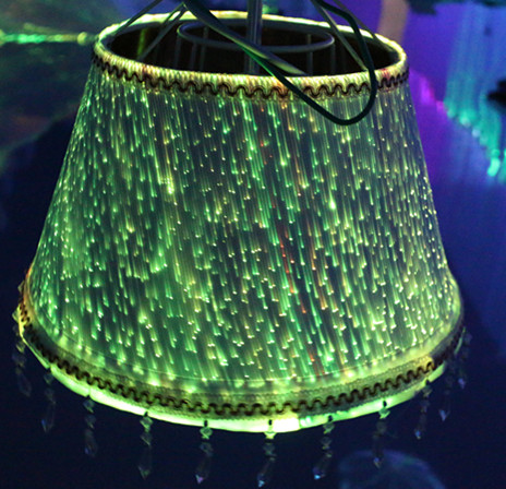 light up lamp shade optic fiber
