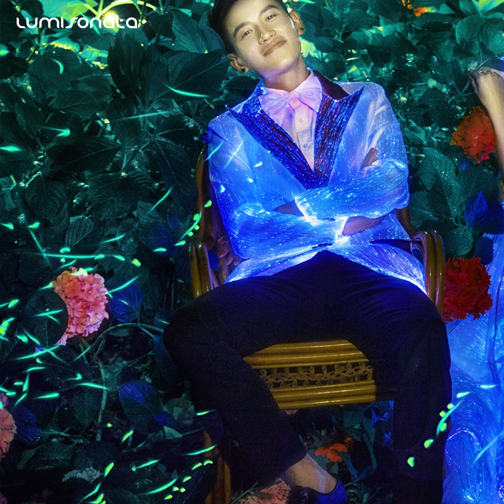led suit,led jacket,light up led suit,glow in the dark jacket,luminous coat