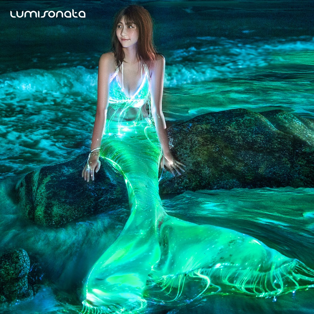 lightning dress,glowing dress,luminous dress,party dress,wedding dress mermaid