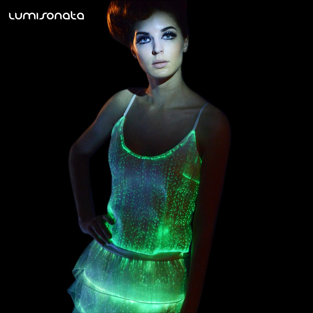 fashionable tops, womens fashion tops, light up tops, sexy clubwear, led costume