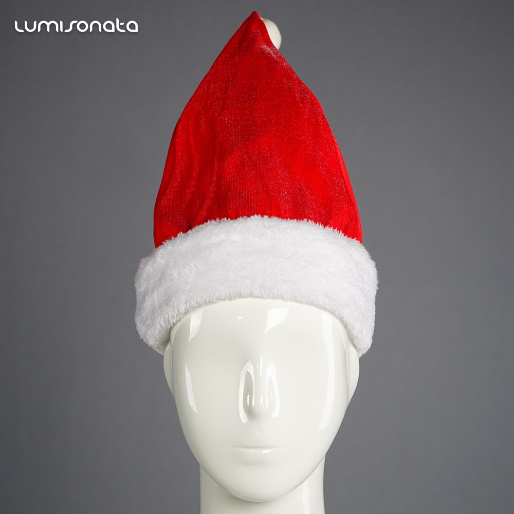 flashing santa hatlighted christmas hats luminous christmas party hats