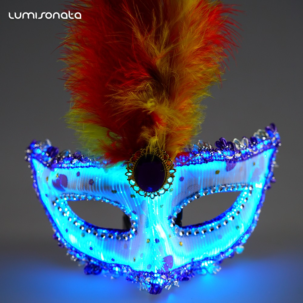 beautiful Luminous Masquerade Mask for Christmas