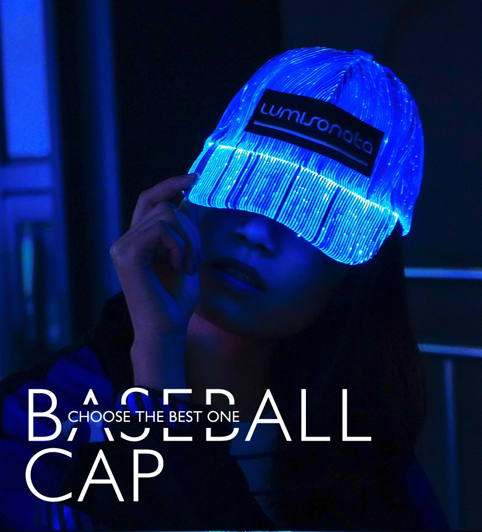 Baseball Cap, Rave Hat, Party Cap, Led Hat, Light Up Baseball Cap,Glowing Hat