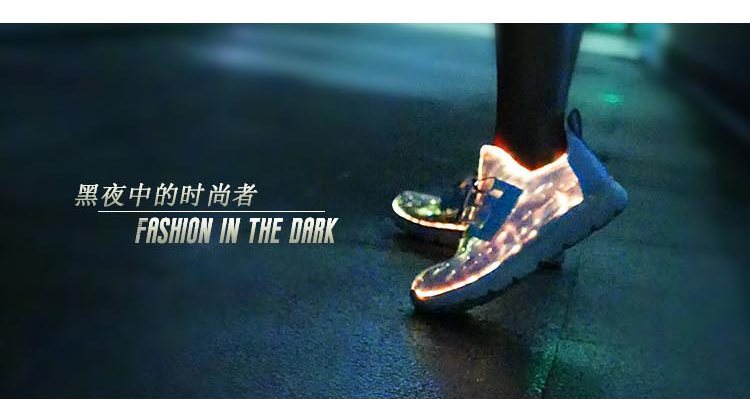 New Led Shoes With Fiber optic light up style