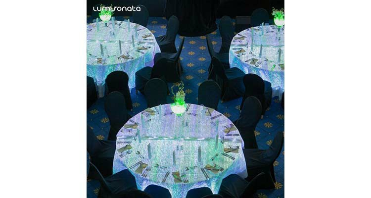 fiber optic table clothing,Led luminous table clothing,light up table cloth,Glow