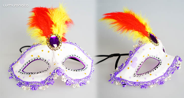 fiber optic fabric masquerade mask,led light up mask,party masquerade mask