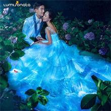 2019 new led luminous wedding gowns for bride