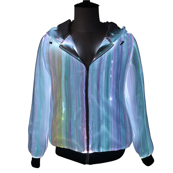 Latest Christmas design led glow luminous hoodie Custom