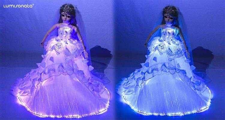 Christmas led lighting Princess dolls