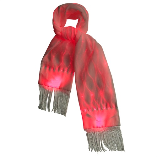 Christmas glow in the dark led scarf