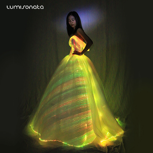 2020 Spring new style luminous led wedding dress