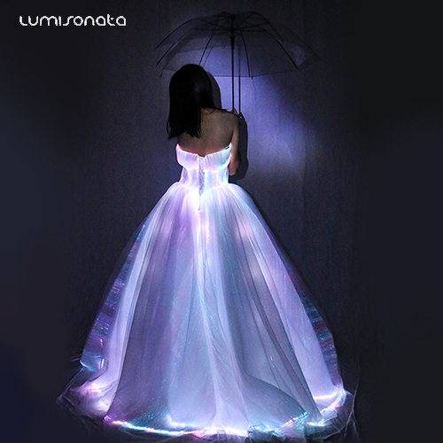 Led wedding dress for Valentine's Day