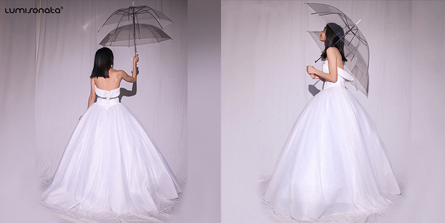 led fiber optic prom wedding dress,led luminous dress,led spring wedding dress