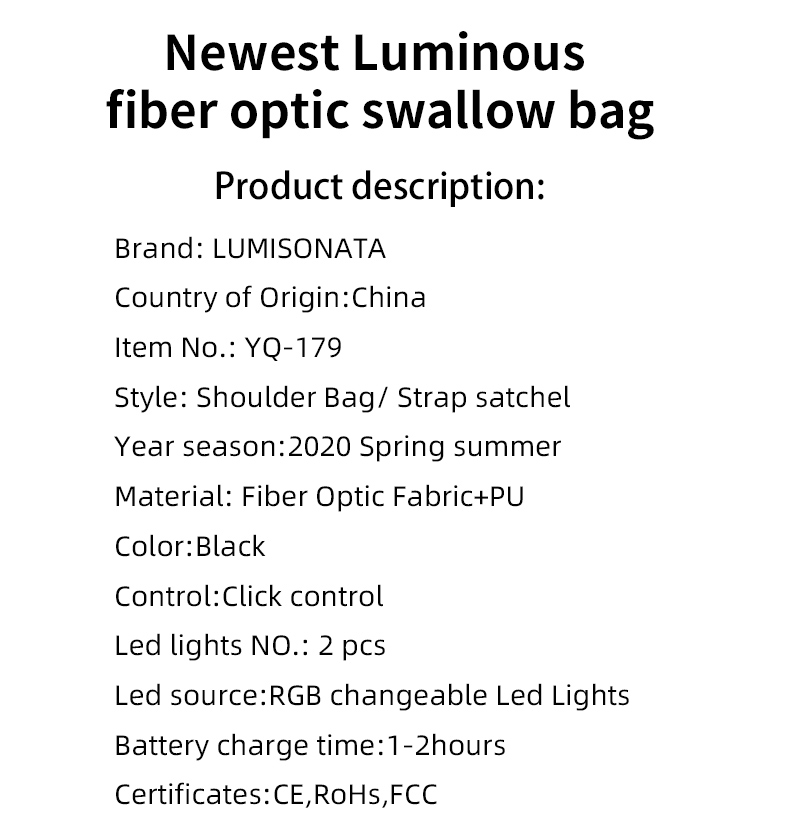 led bag,led bag backpack,wearable led bags,Customizable logo led bags